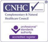 Registered Hypnotherapist with the Complementary and Natural Healthcare Council